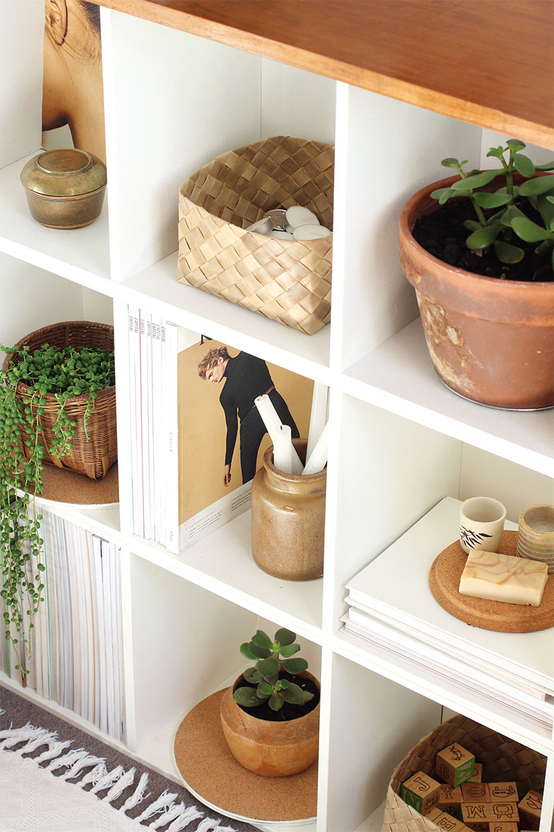 How to make Modern Bookcase using old cube shelving